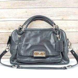 Coach Black Leather Satchel Bag